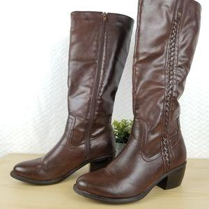 NICOLE BEAUTIFUL & FASHIONABLE BOOTS Brown, Size 7